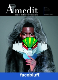 "Cover Amedit n° 13, dicembre 2012 ""Facebluff"", by Iano."